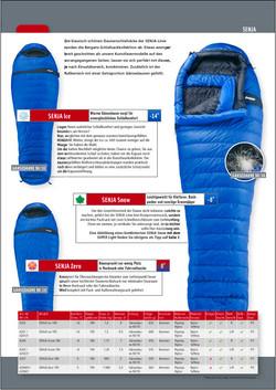 SF Bergans Schlafsack blau