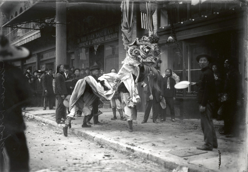 Dragon Dance in Oakland 1910