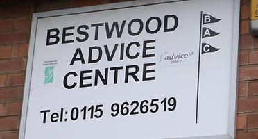 Bestwood Advice Centre Sign