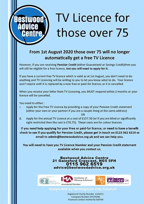 Over 75 TV Licence Changes - July 2020.j