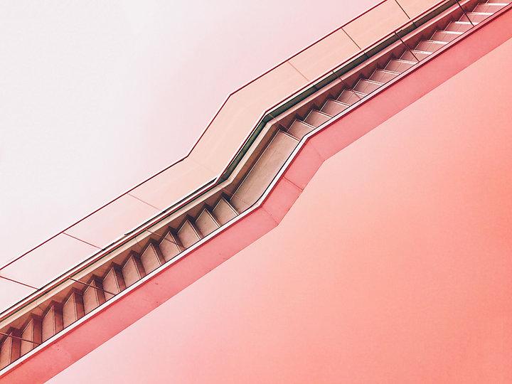 różowy Stairway