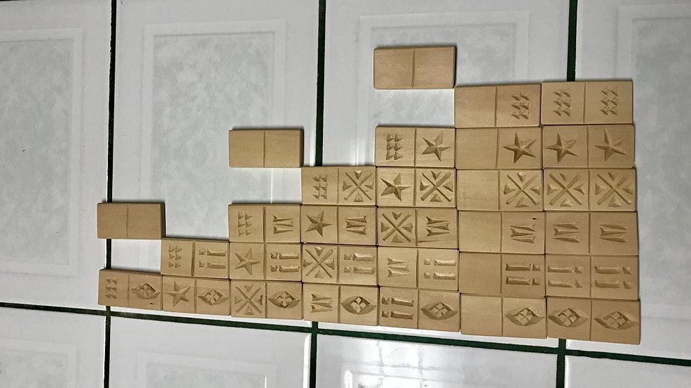 wooden dominos