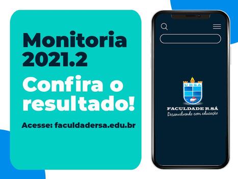 Confira resultado do Programa de Monitoria 2021.2