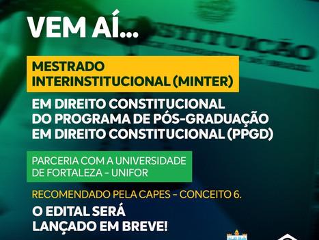 Faculdade R.Sá lança primeiro Mestrado em Direito Constitucional em parceria com a UNIFOR