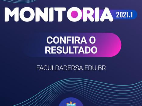 Confira resultado do Programa de Monitoria 2021.1