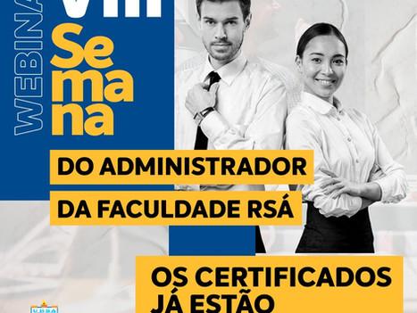Certificados da VIII Semana do Administrador estão disponíveis