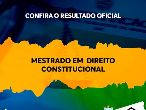 Confira o resultado final do processo seletivo para o Mestrado em Direito Constitucional