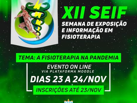 Inscrições abertas: XII Semana de Fisioterapia acontece de 23 a 24 de novembro