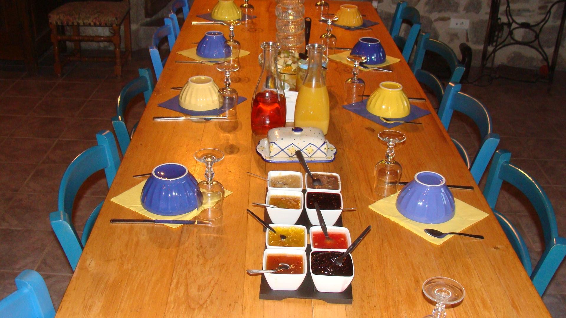 petit déjeuner et confitures maison