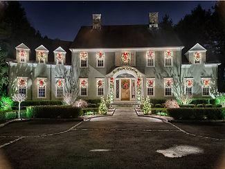 Christmas lights on a residence.