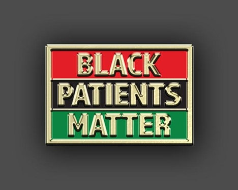 #BlackPatientsMatter Pan-African Flag Lapel Pin