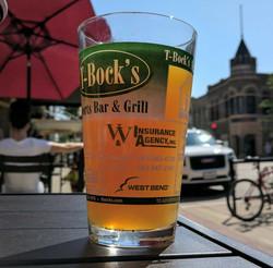 Beer at T-Bock's Decorah Outdoor