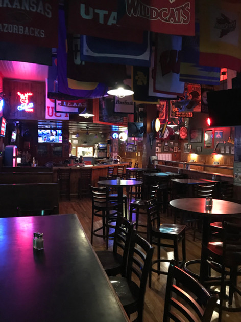 Inside of T-Bock's Sports Bar & Grill in Decoah, Iowa.