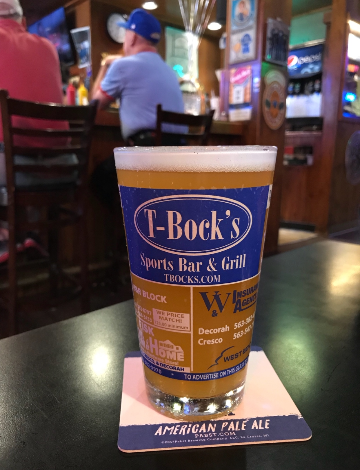 Beer at T-Bock's Decorah