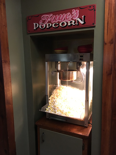 Complimentary popcorn at T-Bock's Sports Bar & Grill in Decoah, Iowa.
