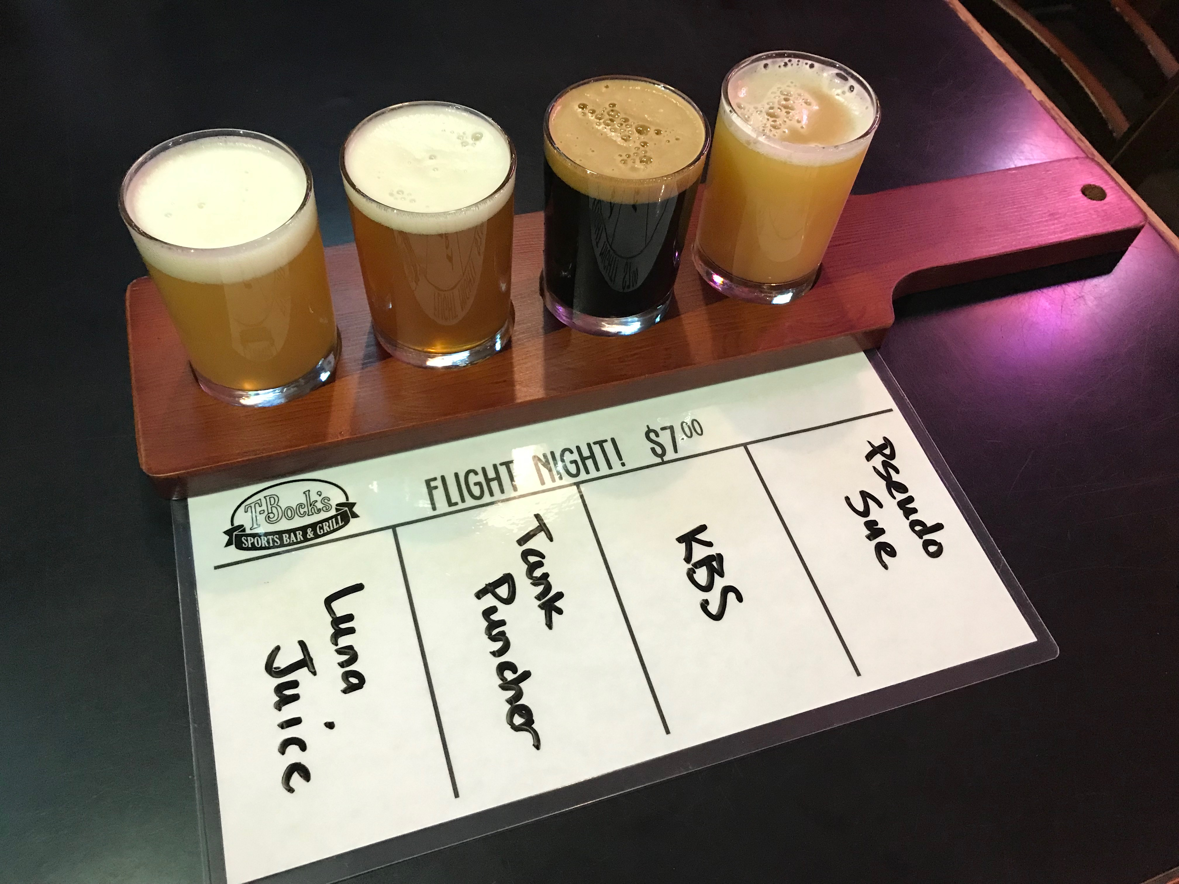 Flights at T-Bock's Decorah