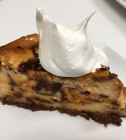 Homemade cheesecake at T-Bock's