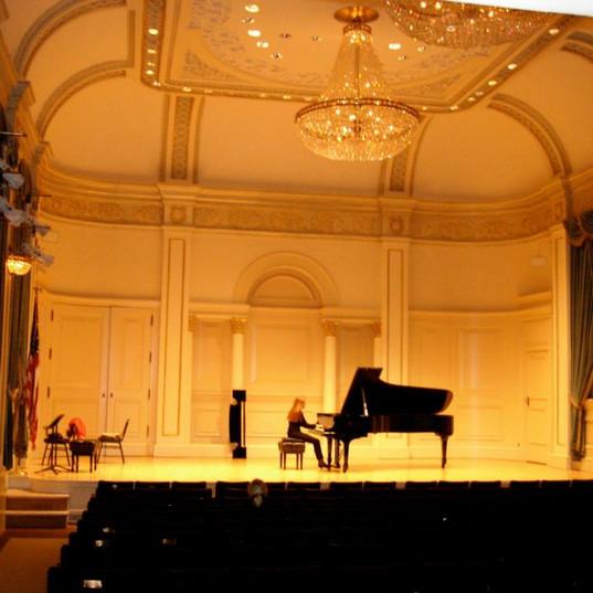 Rehearsal Weill hall - Carnegie hall