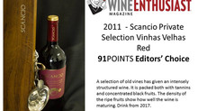 Scancio Private Selection 2011 recebe 91 pontos na WineENTHUSIAST