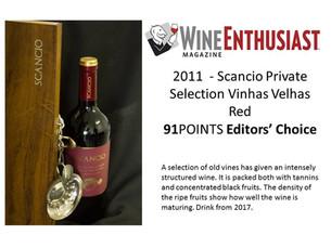 Scancio Private Selection 2011 recebe 91 pontos na WineENTHUSIAST