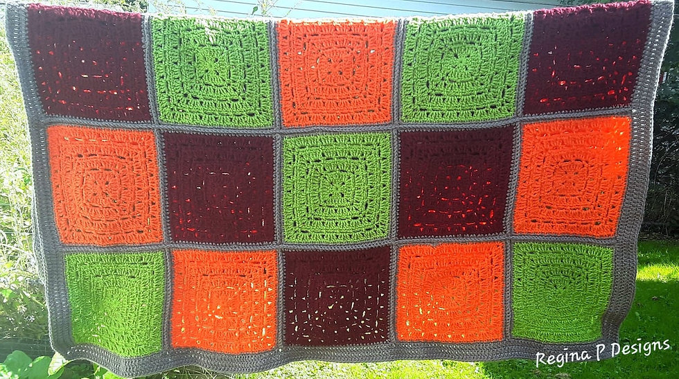 Elevated Granny Square-Blanket