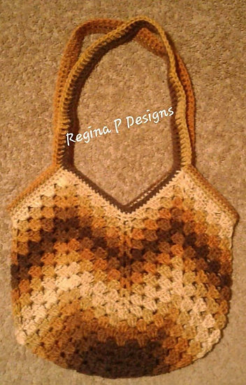 Granny Square Bottom Bag