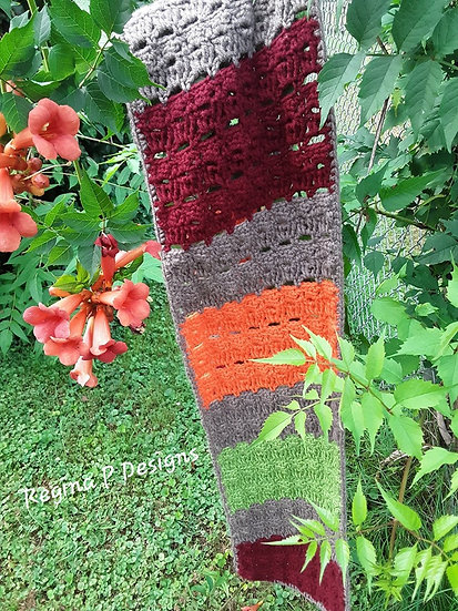 Fall Keek Stitch Scarf