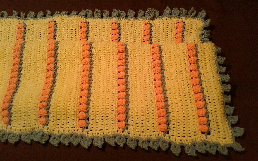 Peaches & Cream Baby Blanket