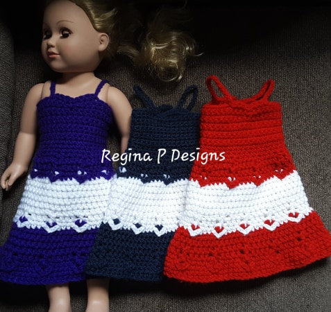 "Lovely 18"" Doll Dress"