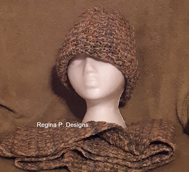 Rimple Stitch Scarf & Hat