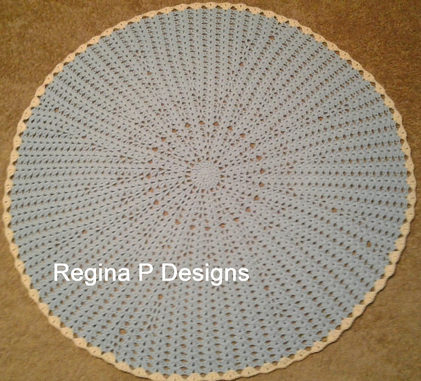 One Skein Circle Baby Blanket
