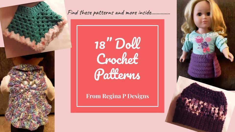 "18"" Doll Crochet Patterns - EBOOK"
