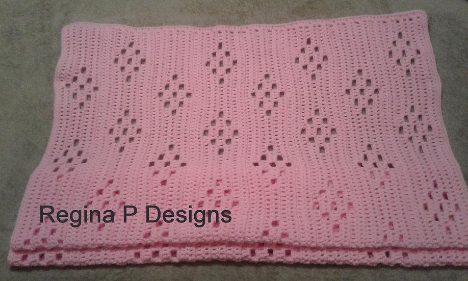 One Skein Baby Blanket #2