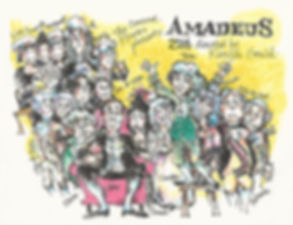 marianne orlando illustration of cast of amadeus