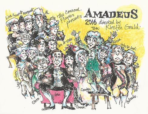 marianne orlando illustration of cast of amadeus