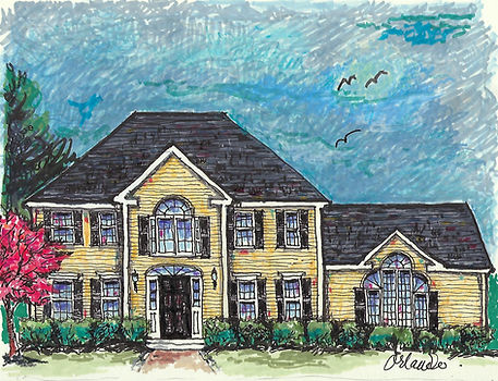 marianne orlando illustration of home