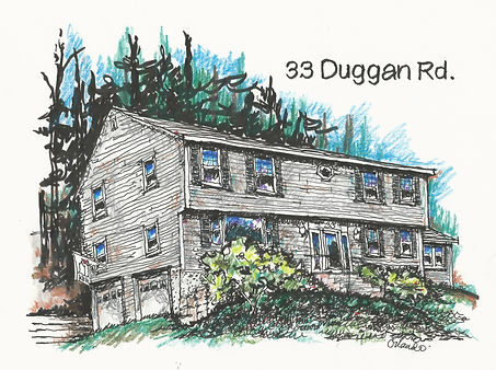 marianne orlando illustration of two story house