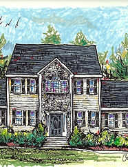 Custom home architecture illustration