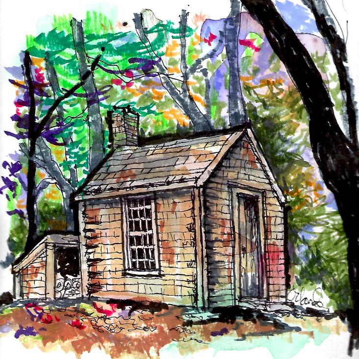 Thoreau's hut hi-contrast.jpg