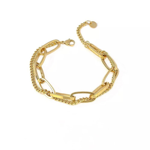 Talia chunky chain bracelets
