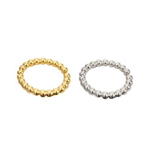 Victoria beaded adjustable rings