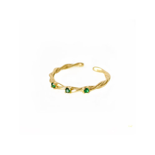 Brielle green stone rings