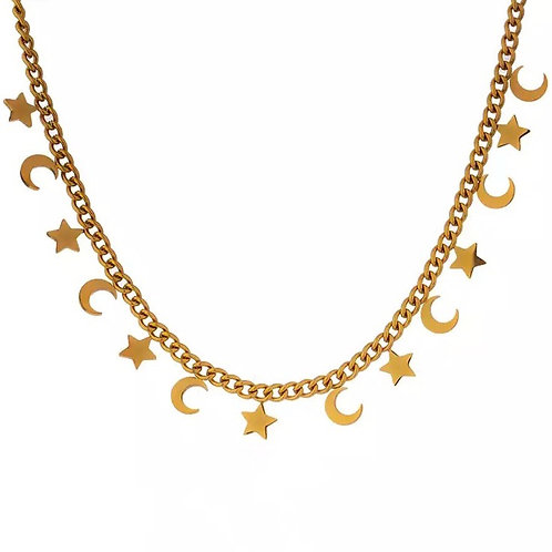 Meghan star and moon necklaces