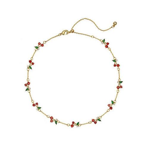 Ariana cherry pop crystal necklace