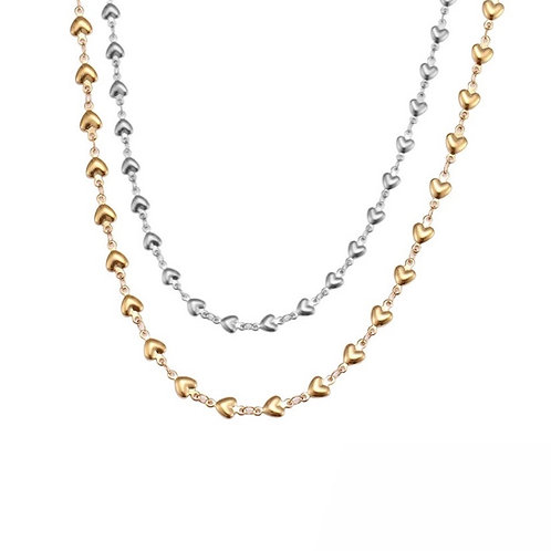Lia heart chain necklaces