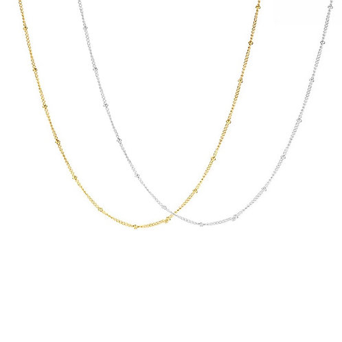 Paige beaded chain necklace