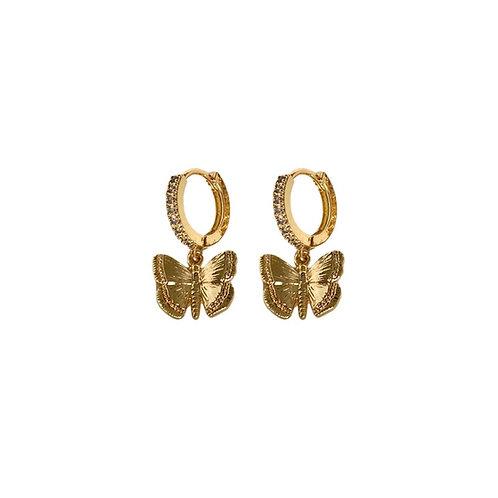 Oriella crystal butterfly earrings