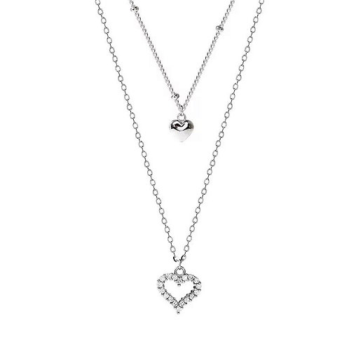 Maria layered heart necklace