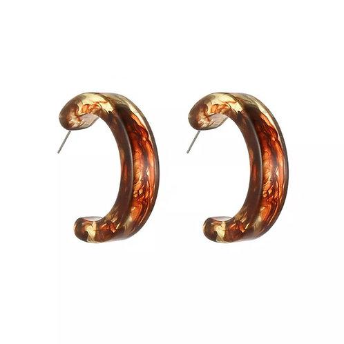 Kasey resin hoop earrings