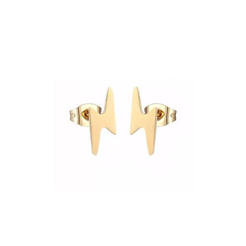 Lily lightning bolt stud earrings